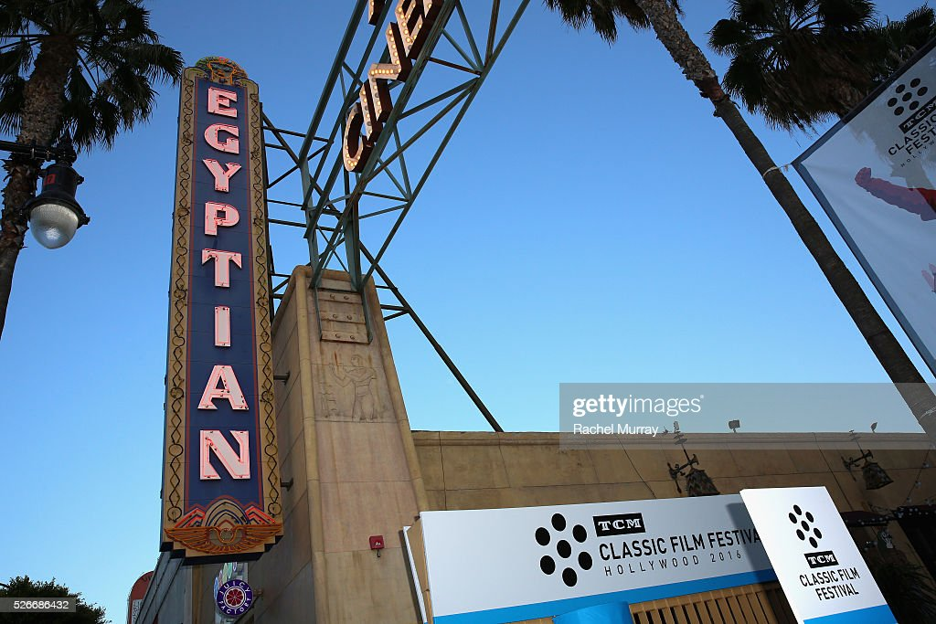 View of Grauman's Egyptian Theatre is seen during day 3 of the TCM Classic Film Festival 2016 on April 30, 2016 in Los Angeles, California. 25826_007