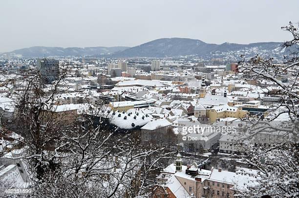 View of Graz from the Schloßberg