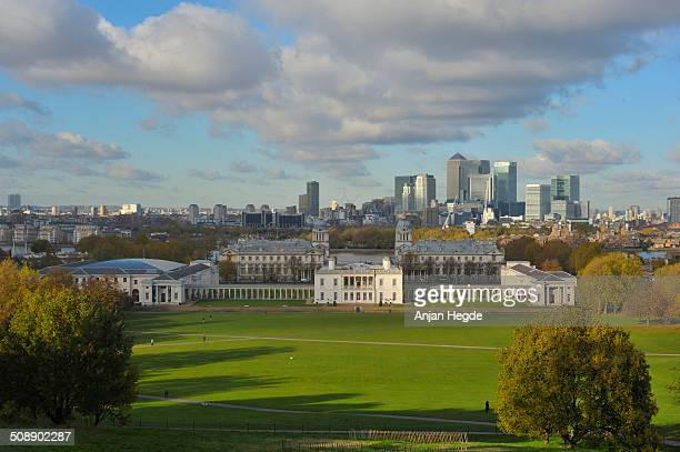 A view of Greenwich Park and the Queen's house