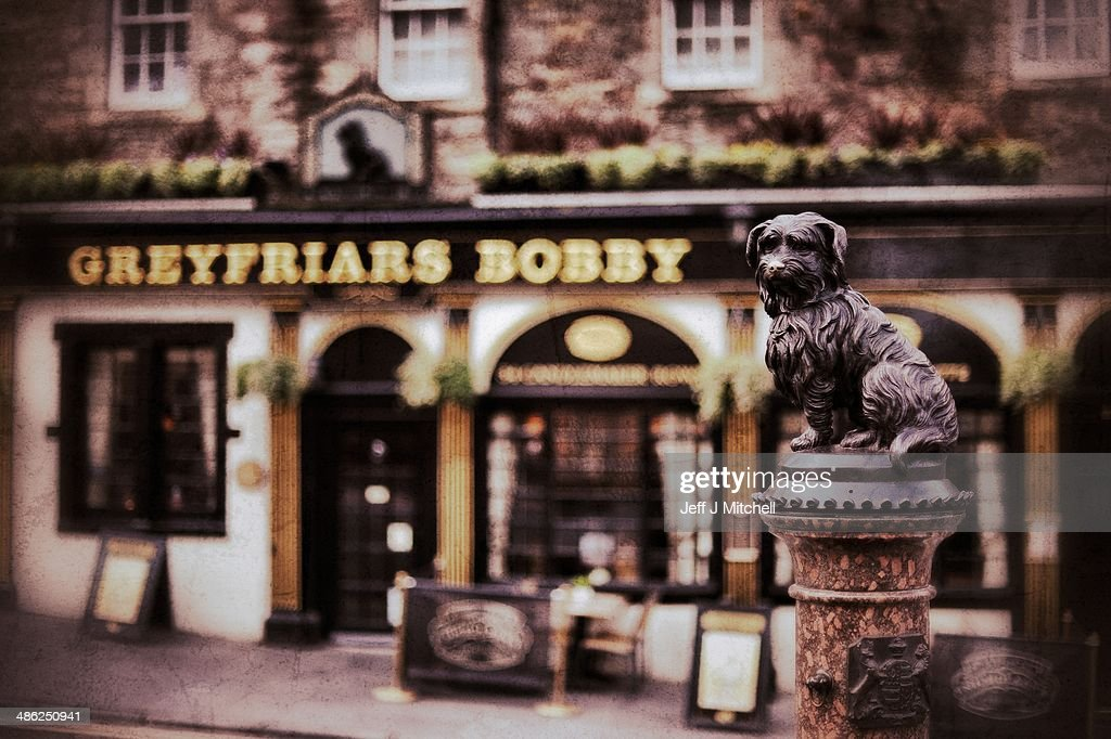 A view of Greyfriars Bobby statue on April 23, 2014 in Edinburgh, Scotland. A referendum on whether Scotland should be an independent country will take place on September 18, 2014.