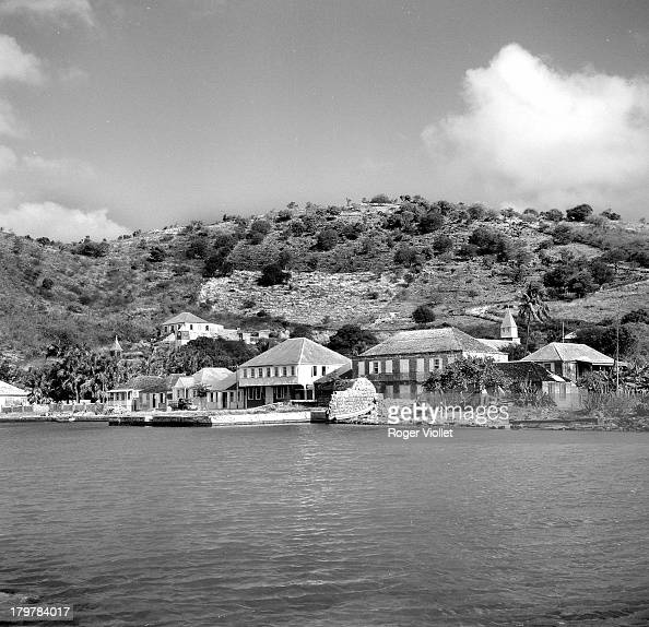 A view of Gustavia capital of the Caribbean island of Saint Barthelemy in the Lesser Antilles March 1959 Saint Barthelemy is a French overseas...