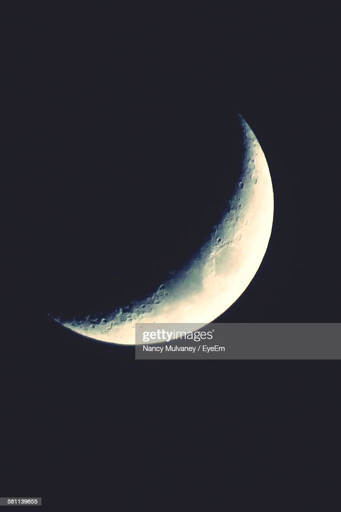 View Of Half Moon In Sky