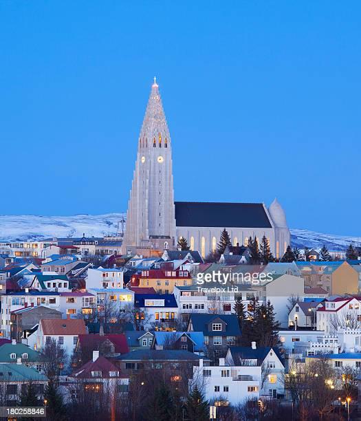 View of Hallgrimskirkja Church, Reykjavik