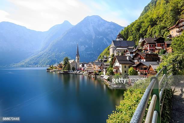 View of Hallstatt over the lake, Austria