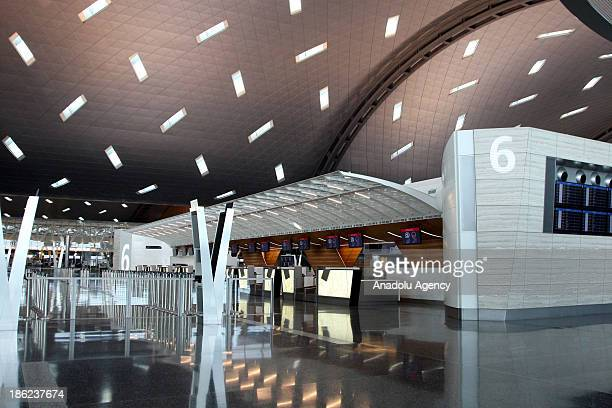 A view of Hamad International Airport on October 29 2013 in Doha Qatar Hamad International Airport $155 billion airport project previously known as...