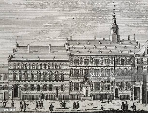 View of Hamburg Germany18th Century Engraving