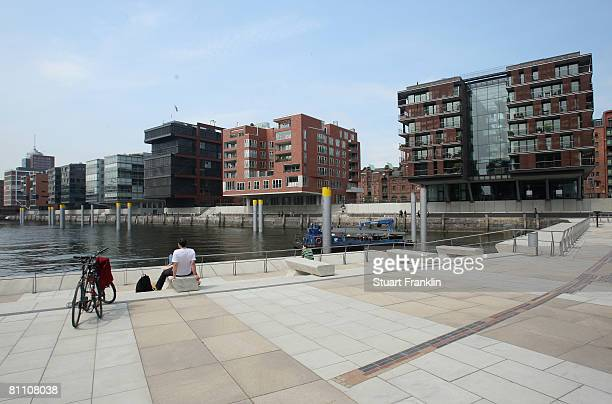 A view of Hamburg's Hafen city on May 16 2008 in Hamburg Germany
