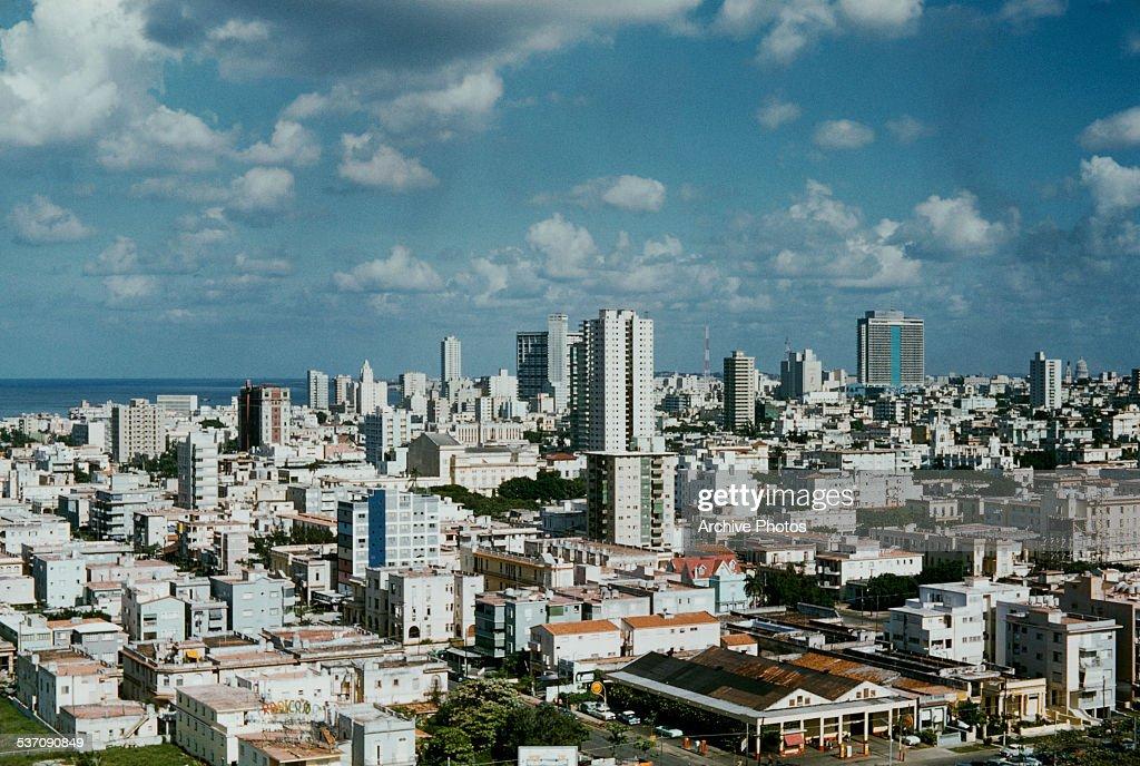 A view of Havana, Cuba, from the Hotel Habana Riviera, circa 1959.