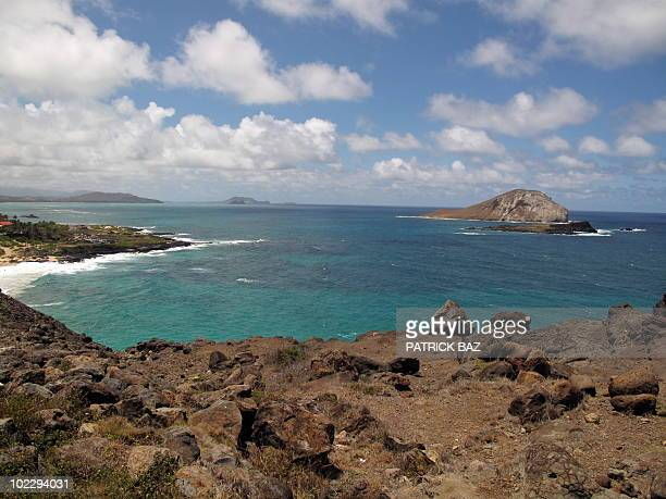 View of Hawaii's Hanauma volcanic area on the island of Oahu on June 19 2010 AFP PHOTO/PATRICK BAZ