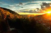 View of Heidelberg at sunset