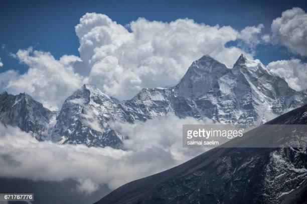 View of Himalaya mountains peak,Everest region, Nepal