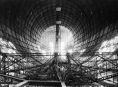 View Of Hindenburg Dirigible During The Building Time In Germany On 1934