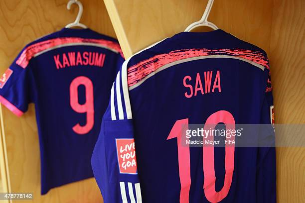 A view of Homare Sawa of Japan's jersey before the FIFA Women's World Cup Canada 2015 quarter final match between Japan and Australia at Commonwealth...