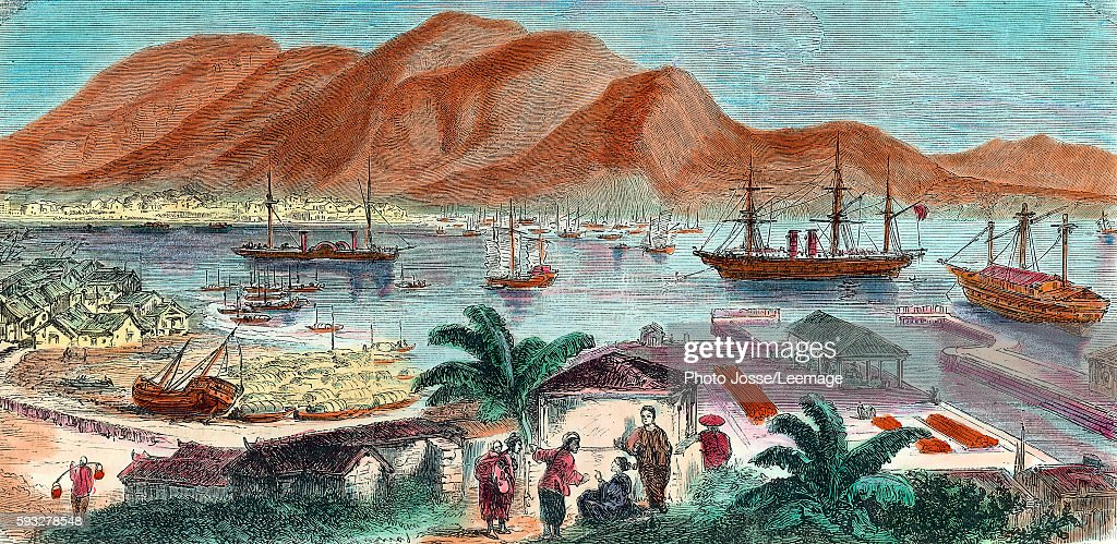 View of Hong Kong and Aberdeen basin in 19th century Private collection