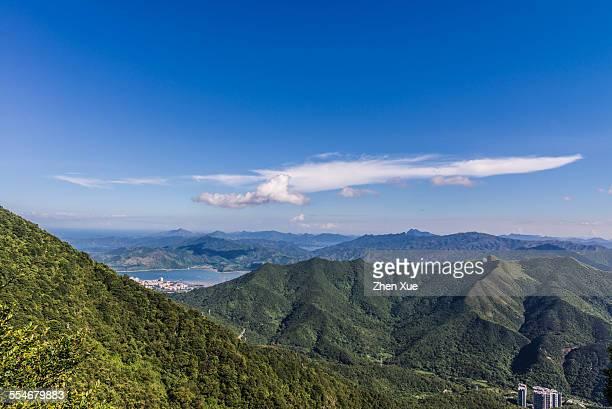 View of Hongkong mountains