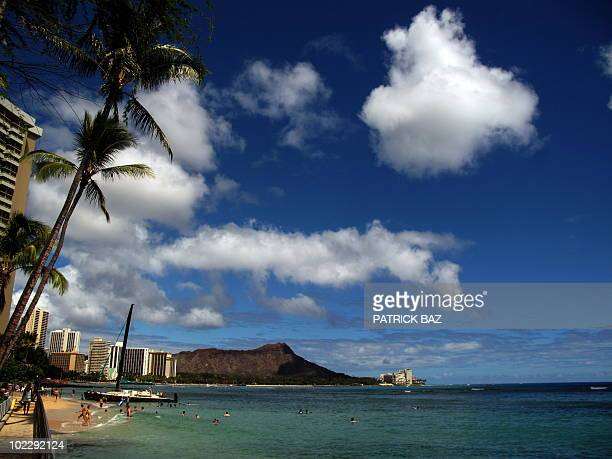A view of Honolulu's Waikiki beach on June 15 2010 AFP PHOTO/PATRICK BAZ