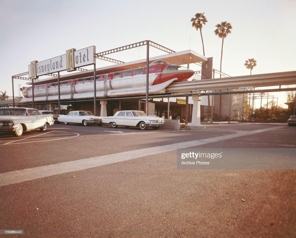 In 1955 the Disneyland Hotel opened at The Disneyland resort in California.