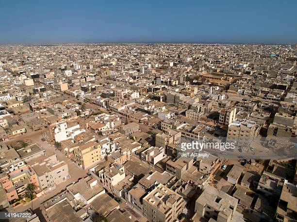 View of house roofs in Dakar