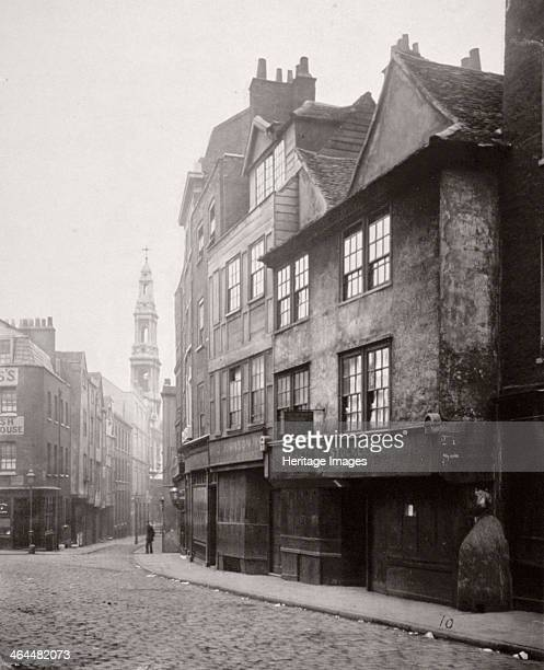 View of houses in Drury Lane Westminster London 1876