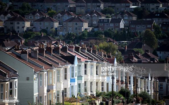 A view of housing on October 8 2014 in Bristol England On the first anniversary of the introduction of second phase of the Help to Buy scheme which...