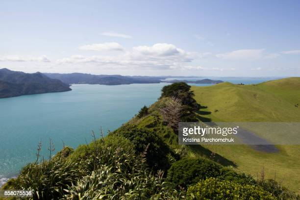 View of Huia (Waitakere Ranges Regional Park) from Manukau Heads Lighthouse