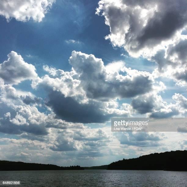 View of idyllic lake