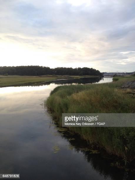 View of idyllic river