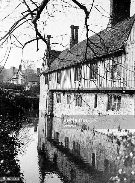 A view of Ightham moat in Kent during winter Circa 1930