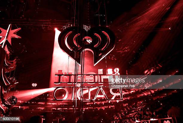 A view of iHeart Radio signage displayed during 1027 KIIS FM's Jingle Ball 2015 Presented by Capital One at STAPLES CENTER on December 4 2015 in Los...