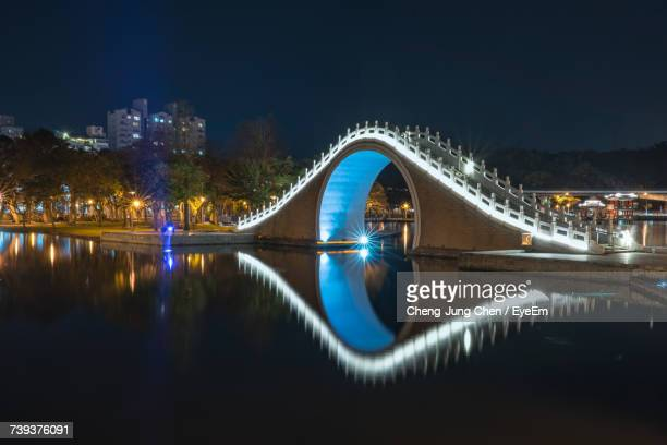 View Of Illuminated Bridge At Night