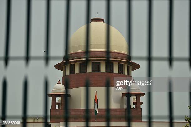 A view of India's Supreme Court building is seen in New Delhi on May 26 2016 India's top court May 26 allowed an Italian marine accused of killing...