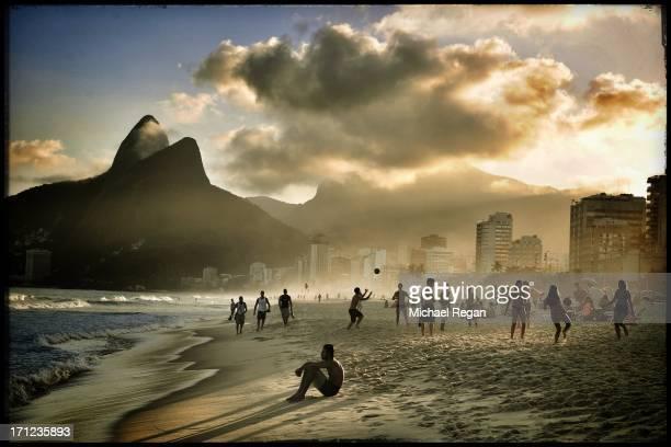 A view of Ipanema Beach on June 5 2013 in Rio de Janeiro Brazil