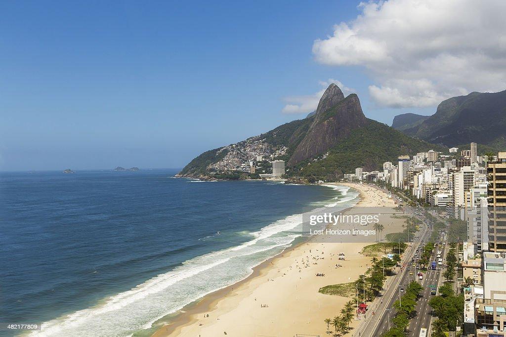 View of Ipanema beach, Rio De Janeiro, Brazil