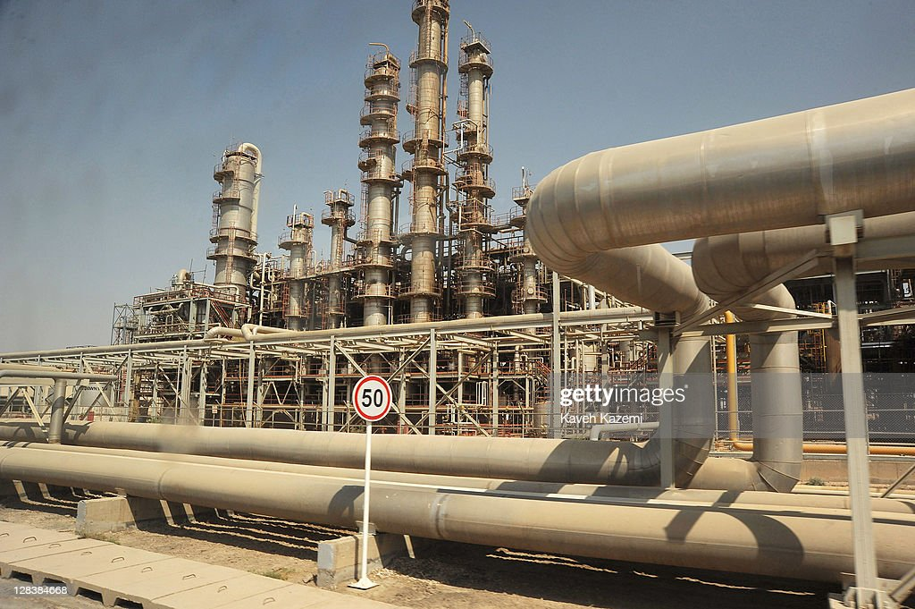View of Iran's oil industry installations on September 28 2011 in Mahshahr Khuzestan province southern Iran Iran is seeking foreign investment for...