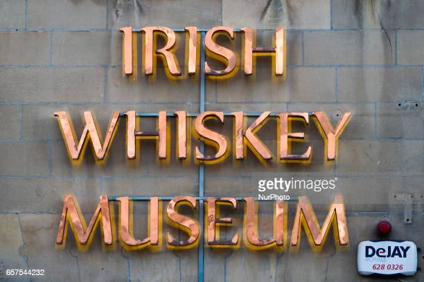 A view of Irish Whiskey Museum logo in Dublin's city center On Friday March 24 in Dublin Ireland