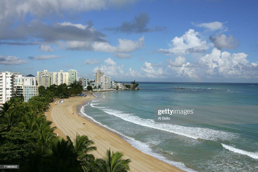 A view of Isla Verde Beach September 23 2006 in Old San Juan Puerto Rico