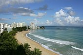 A view of Isla Verde Beach September 23 2006 in Old San Juan Puerto Rico