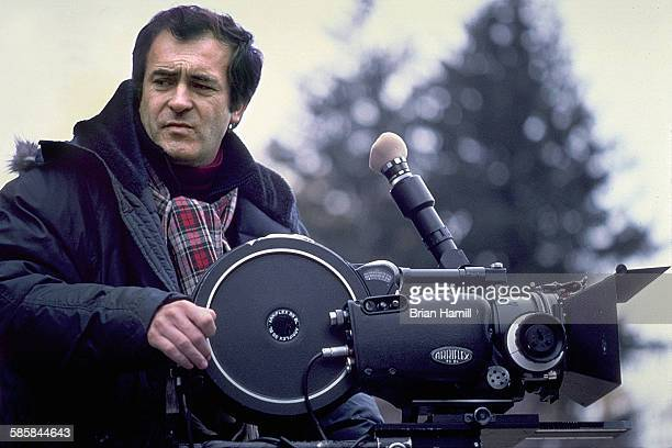 View of Italian film director Bernardo Bertolucci behind the camera on location for his film 'La Luna' New York New York 1978