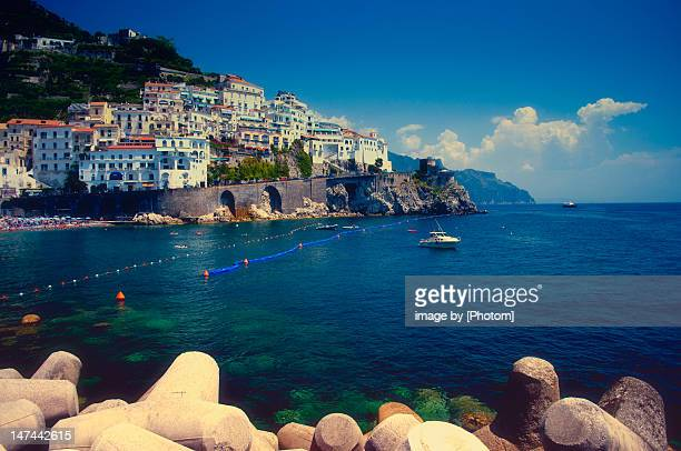 View of Italian town of Amalfi