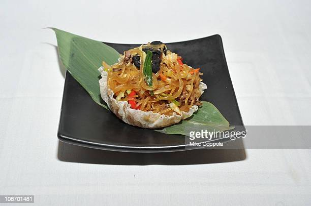 A view of Japchae during the Korean Food Foundation Luncheon at Bann on February 1 2011 in New York City