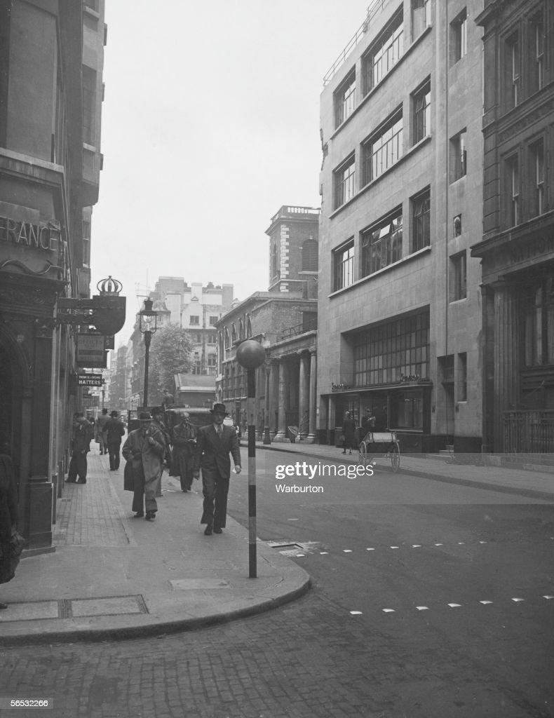 A view of Jermyn Street London 1st July 1948