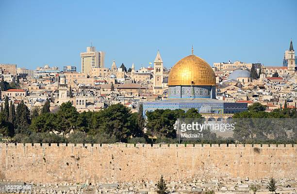 View of Jerusalem skyline from Mount of Olives