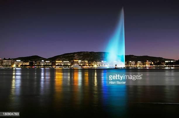 View of 'Jet d'Eau' fountain