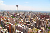 Johannesburg skyline from the top of Ponte City