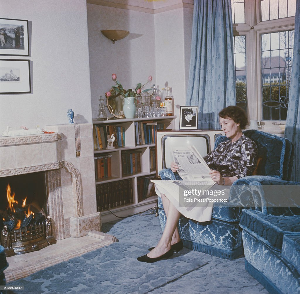 View Of John Lennons Aunt Mimi Smith Sitting Reading A Newspaper In The Lounge At Mendips