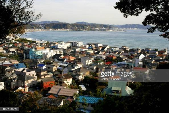 View of Kamakura and Zushi a popular beach town in the distance Besides the large number of temples the area is also known for its superb windsurfing...