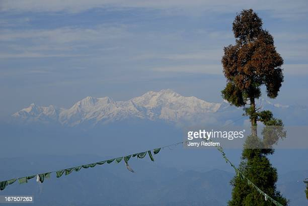 A view of Kanchenjunga the world's thirdhighest peak as seen from the grounds of the Tibetan Refugee Self Help Center on the outskirts of Darjeeling...