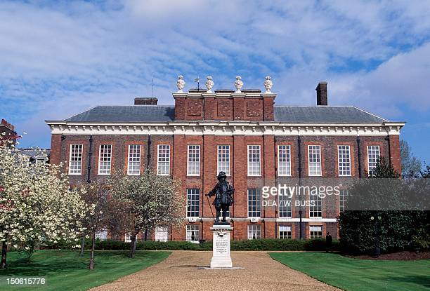 View of Kensington Palace with the statue of William III of Orange London England 17th18th century