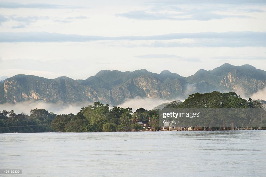 View of Khong river : Stock Photo