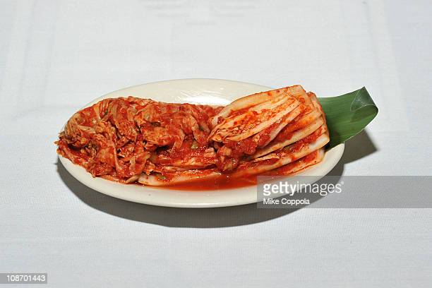 A view of Kimchi during the Korean Food Foundation Luncheon at Bann on February 1 2011 in New York City